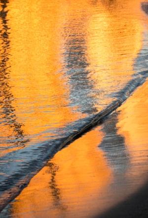 Nathalie sunrise reflection silver sea
